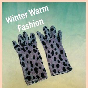Soft Fashion Animal Print Gloves